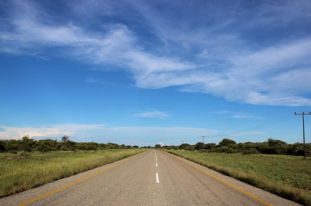 Bearbeitet Botswana Straßen