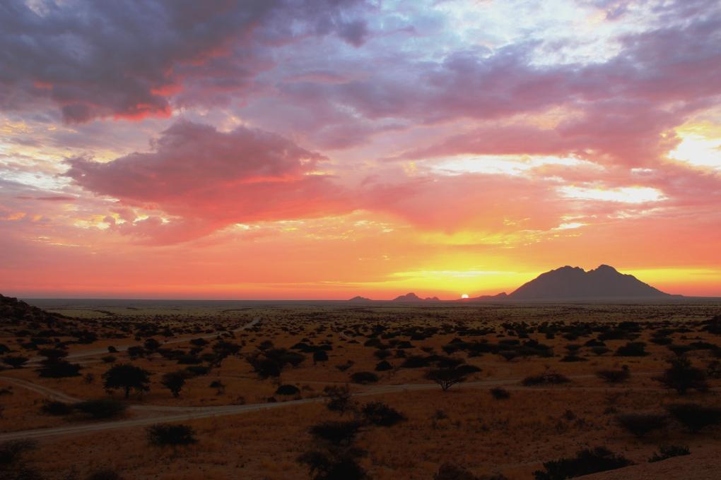 Sonnenuntergang Namibia